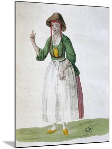 Quaker Woman, 1767--Mounted Giclee Print