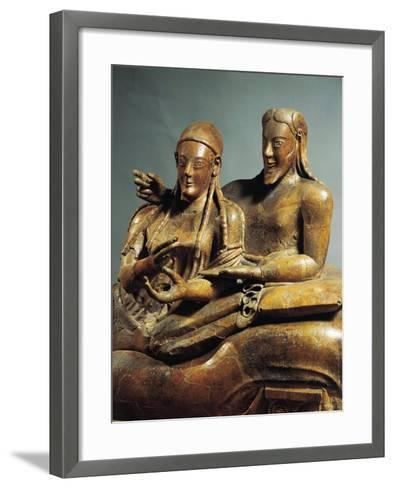 Painted Terracotta Sarcophagus of the Spouses, from Cerveteri, Rome Province, Italy--Framed Art Print