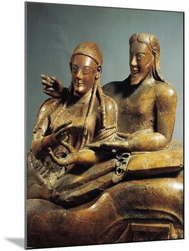 Painted Terracotta Sarcophagus of the Spouses, from Cerveteri, Rome Province, Italy--Mounted Giclee Print