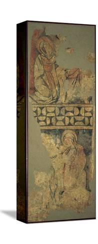 Annunciatio, Depicting the Virgin Mary Kneeling before the Messenger Angel--Stretched Canvas Print