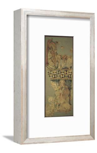 Annunciatio, Depicting the Virgin Mary Kneeling before the Messenger Angel--Framed Art Print