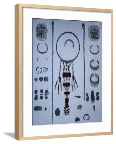 Funeral Offerings, from Asenkofen Burial Mound, Bavaria, Germany. Middle Bronze Age--Framed Art Print