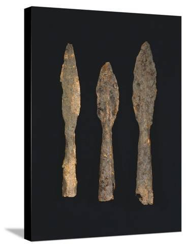 6th-7th Century Iron Spearheads, from Benevento, Italy--Stretched Canvas Print