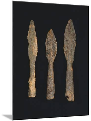 6th-7th Century Iron Spearheads, from Benevento, Italy--Mounted Giclee Print
