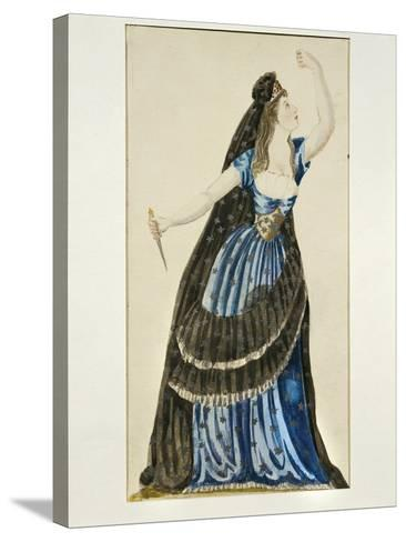 Costume Sketch for Queen of the Night for Performance the Magic Flute--Stretched Canvas Print