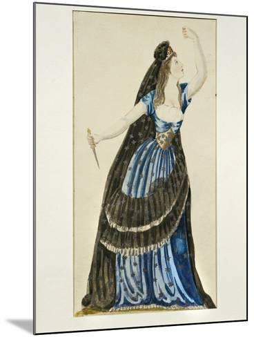 Costume Sketch for Queen of the Night for Performance the Magic Flute--Mounted Giclee Print