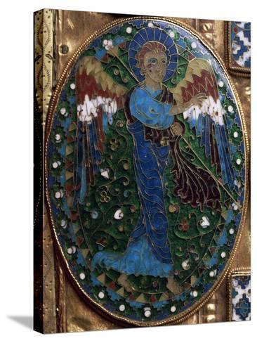 Announcing Angel, Detail from Covers of Gospels of Peace of Chiavenna--Stretched Canvas Print