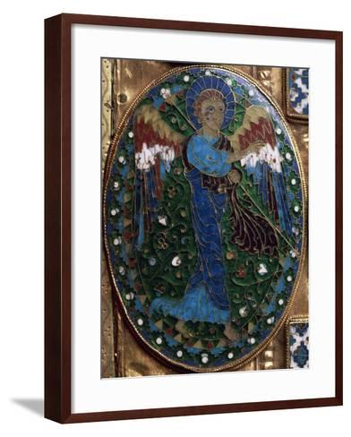 Announcing Angel, Detail from Covers of Gospels of Peace of Chiavenna--Framed Art Print