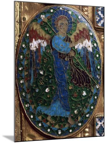 Announcing Angel, Detail from Covers of Gospels of Peace of Chiavenna--Mounted Giclee Print