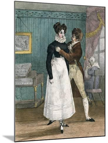 Dance Teacher, France--Mounted Giclee Print