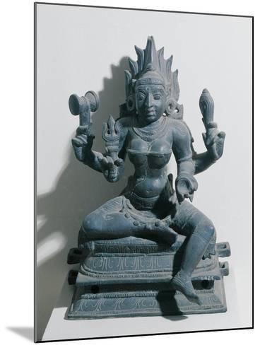 India, Kali, Hindu Goddess, Bronze Statue--Mounted Giclee Print