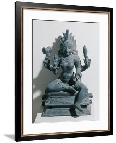 India, Kali, Hindu Goddess, Bronze Statue--Framed Art Print
