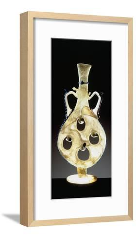 Blown Glass Flask with Four Holes--Framed Art Print