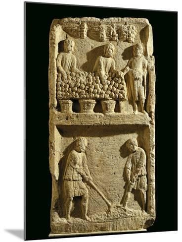 The Pillar of the Farmer, Relief Depicting a Fruit Market and Two Farmers Tilling the Soil--Mounted Giclee Print