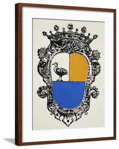 Cagliostro Coat of Arms, France--Framed Art Print