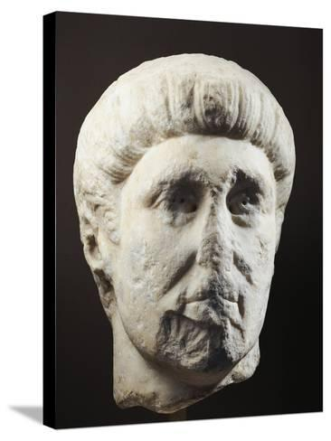 Marble Head of Emperor Constantine, 307-337 A.D.--Stretched Canvas Print