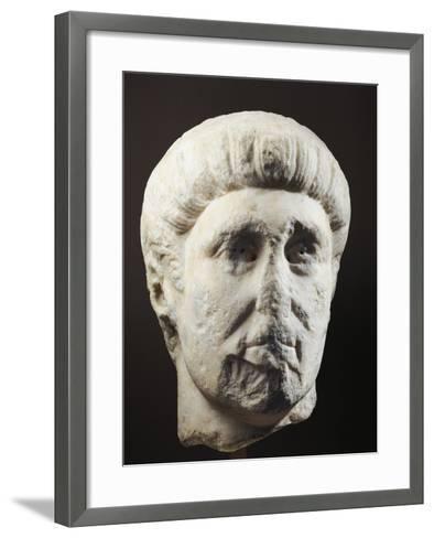 Marble Head of Emperor Constantine, 307-337 A.D.--Framed Art Print