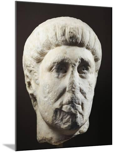 Marble Head of Emperor Constantine, 307-337 A.D.--Mounted Giclee Print