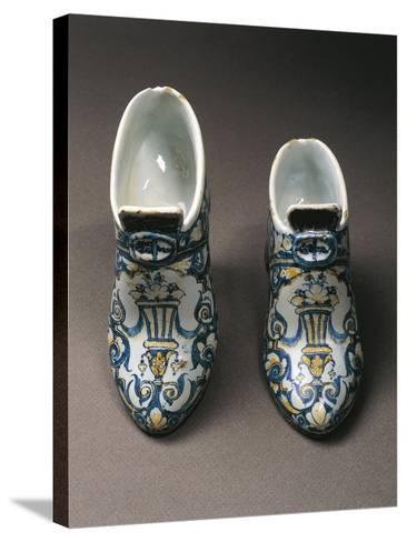 Porcelain Shoes, Edme Poterat--Stretched Canvas Print