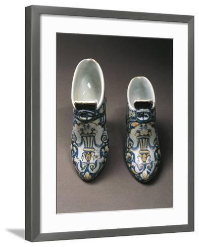 Porcelain Shoes, Edme Poterat--Framed Art Print