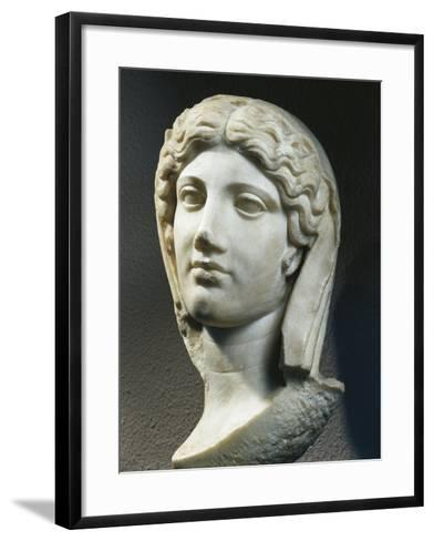 Marble Head of Woman, from Ephesus, Turkey--Framed Art Print