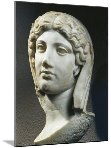 Marble Head of Woman, from Ephesus, Turkey--Mounted Giclee Print