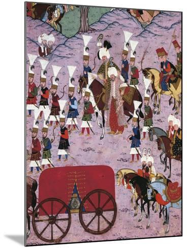 Suleiman the Magnificent and His Army, 1566, Ottoman Miniature, Turkey 16th Century--Mounted Giclee Print