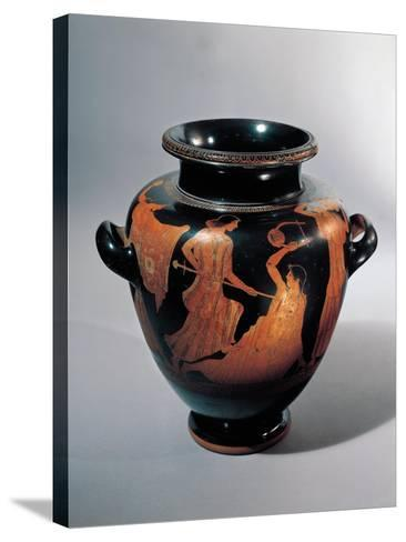 Vase for Keeping and Carrying Wine with Death of Orpheus--Stretched Canvas Print