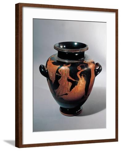 Vase for Keeping and Carrying Wine with Death of Orpheus--Framed Art Print
