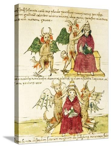 The Coronation of the Antipope, Miniature from Manuscript Latin III 177 Folio 41--Stretched Canvas Print