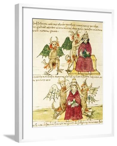 The Coronation of the Antipope, Miniature from Manuscript Latin III 177 Folio 41--Framed Art Print