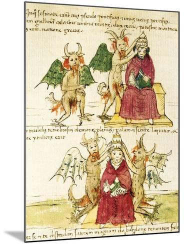The Coronation of the Antipope, Miniature from Manuscript Latin III 177 Folio 41--Mounted Giclee Print