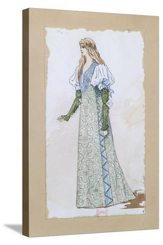 Costume Sketch for Desdemona in Otello for the Performance at Paris, Salle Garnier--Stretched Canvas Print