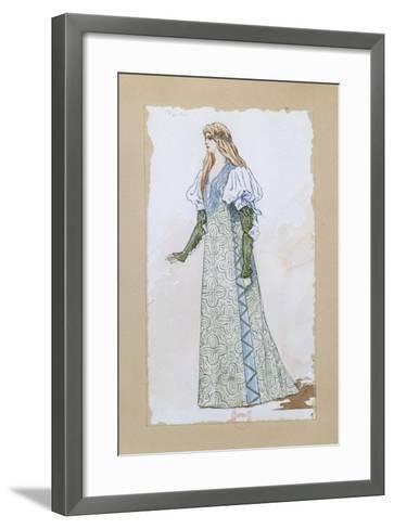 Costume Sketch for Desdemona in Otello for the Performance at Paris, Salle Garnier--Framed Art Print
