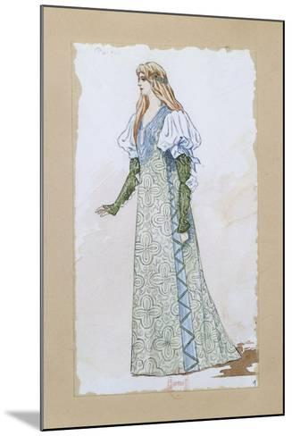 Costume Sketch for Desdemona in Otello for the Performance at Paris, Salle Garnier--Mounted Giclee Print