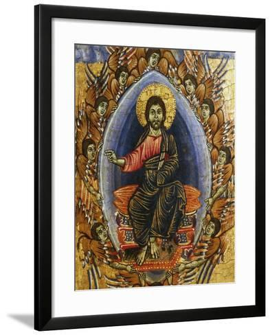Jesus in Glory with Angels, Late 13th Century--Framed Art Print