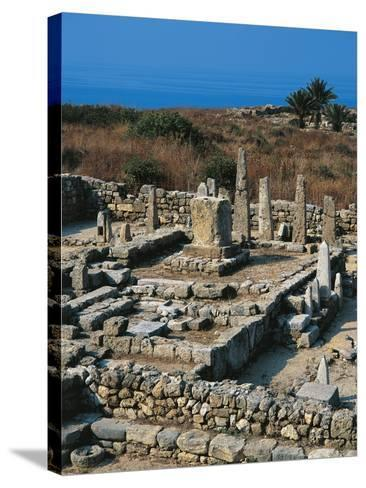 Lebanon, Byblos, the Temple of the Obelisks--Stretched Canvas Print