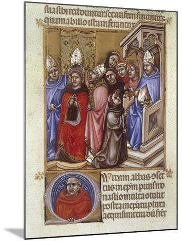 An Abbot Consecrated by a Bishop, Miniature from Concordantia Discordantium Acanonum--Mounted Giclee Print