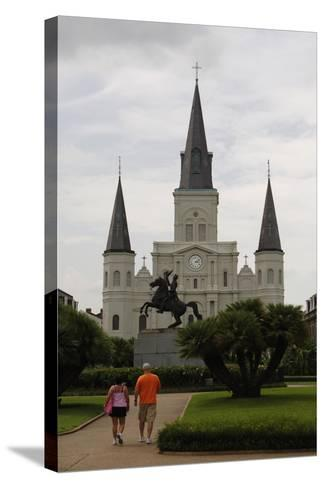 USA, New Orleans, Cathedral-Basilica of Saint Louis, King of France--Stretched Canvas Print
