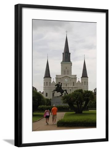 USA, New Orleans, Cathedral-Basilica of Saint Louis, King of France--Framed Art Print