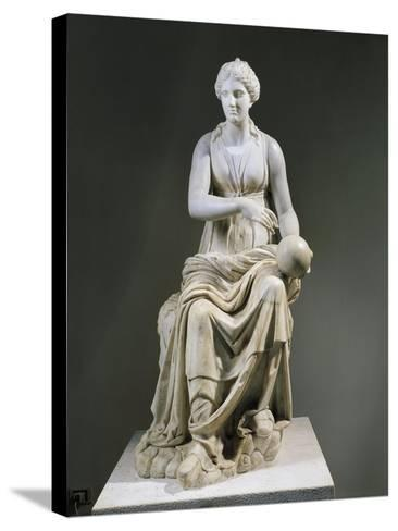 Marble Statue of Muse Urania--Stretched Canvas Print