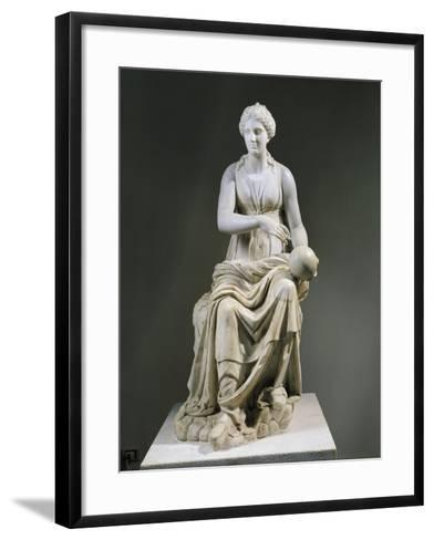 Marble Statue of Muse Urania--Framed Art Print