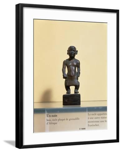 Egyptian Civilization. Wooden Statue of a Dwarf--Framed Art Print