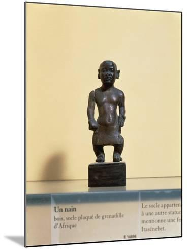 Egyptian Civilization. Wooden Statue of a Dwarf--Mounted Giclee Print
