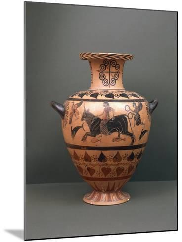 Etruscan Civilization, Black-Figure Pottery, Hydria Depicting 'The Abduction of Europe'--Mounted Giclee Print