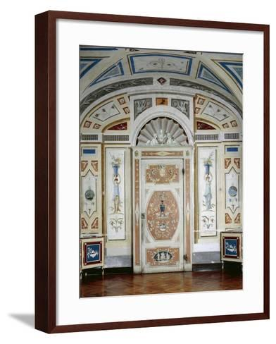 Italy, Masino Castle, Wooden Furniture, Painted in Tempera and Decorated with Rice Lozenges--Framed Art Print
