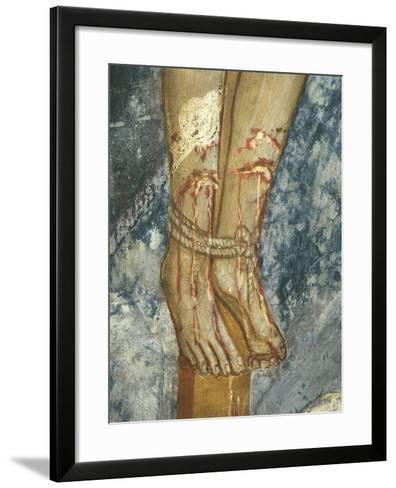 Feet of Thief, Detail Form the Crucifixion--Framed Art Print