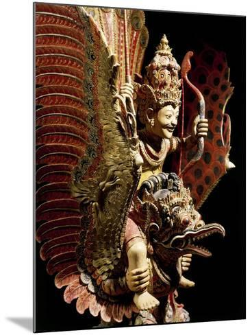 Vishnu on Garuda Eagle, Carved and Painted Wooden Statue, Indonesia--Mounted Giclee Print