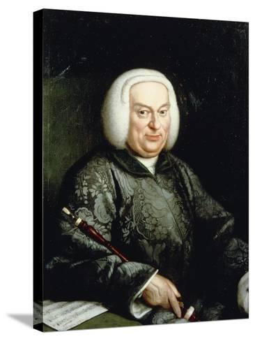 Portrait of Musician with Oboe, 18th Century--Stretched Canvas Print
