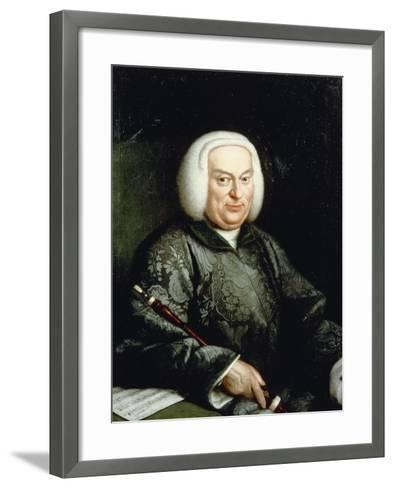 Portrait of Musician with Oboe, 18th Century--Framed Art Print